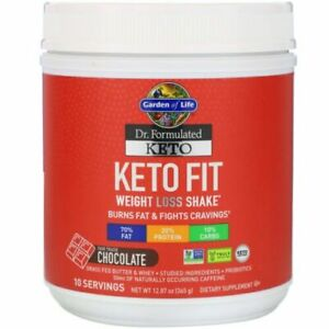 NEW 12.87 oz Dr. Formulated Keto Fit Weight Loss Shake, Fair Trade Chocolate