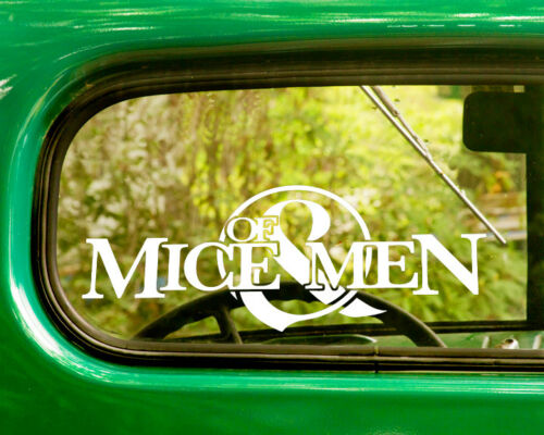 2 OF MICE AND MEN DECAL Stickers For Car Window Bumper Truck Laptop Jeep Rv
