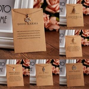 Elegant-Karma-Plam-Paper-Card-Necklace-Gold-Chain-Choker-Women-BFF-Jewelry-Gift