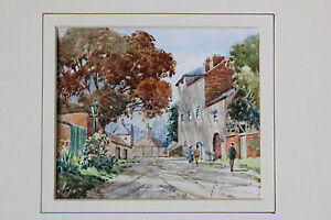 SUPERB-ORIGINAL-WATERCOLOUR-SHARDLOW-DERBYSHIRE-MID-20THC-PERCY-WOODWARD-NICE