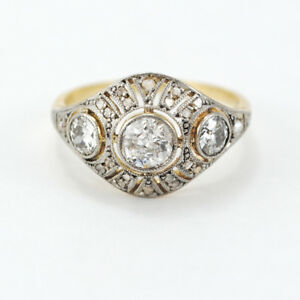 d93432958410 ANTIQUE RING CIRCA 1900-1940 IN 18K GOLD AND DIAMONDS FANTASTIC ...