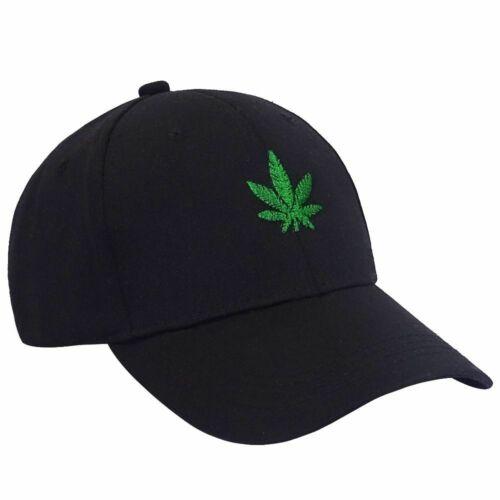 Solide Couleur Unisexe Maple Leaf Weed Broderie Casquette De Baseball Femmes courbées Hommes Cap