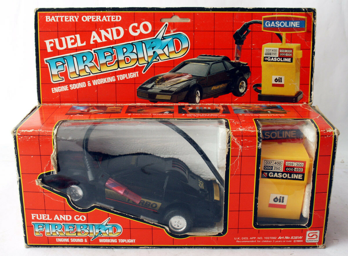 AMAZING VINTAGE 1984 PONTIAC FIREBIRD CAR TURBO TOY HONG KONG BATTERY NEW MIB