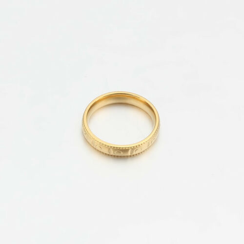 Rose//Gold Plated Stainless Steel Round 4MM Wedding Women//Men Rings Size 6-11