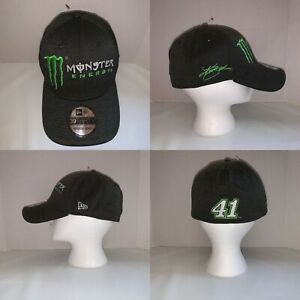 New-Era-39Thirty-Monster-Energy-2017-Nascar-Kurt-Busch-41-Hat-Cap-Mens-Size-M-L