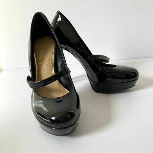 Jessica Simpson Bogart Black Mary Jane Platform 7