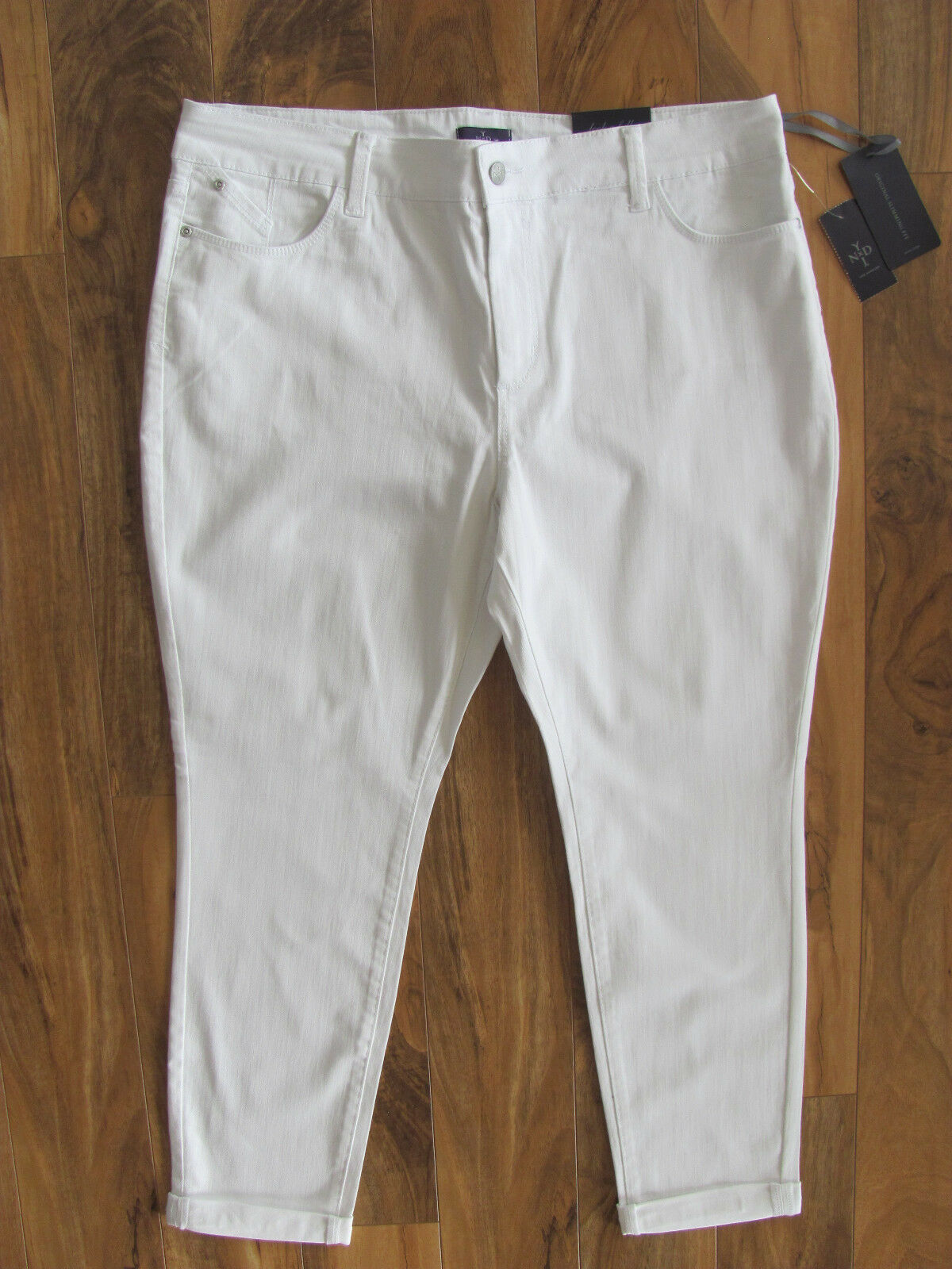 NYDJ Not Your Daughter's Jeans-Anabelle Skinny Boyfriend- White- Size 18P-NWT