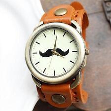 Reloj Mr BIGOTE bigotes Naranja Retro Mr Moustache mustache watch  A1526