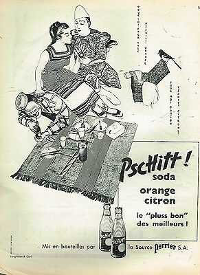 A- Publicité Advertising 1956 Limonade Soda Pschitt Le Clown Blanc