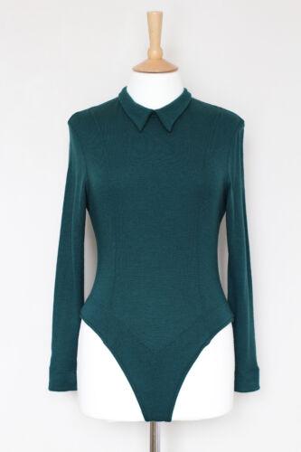 cachemire L lana in Maglione Body girocollo Mulberry Top Large scuro verde Body S6xSnt5wv