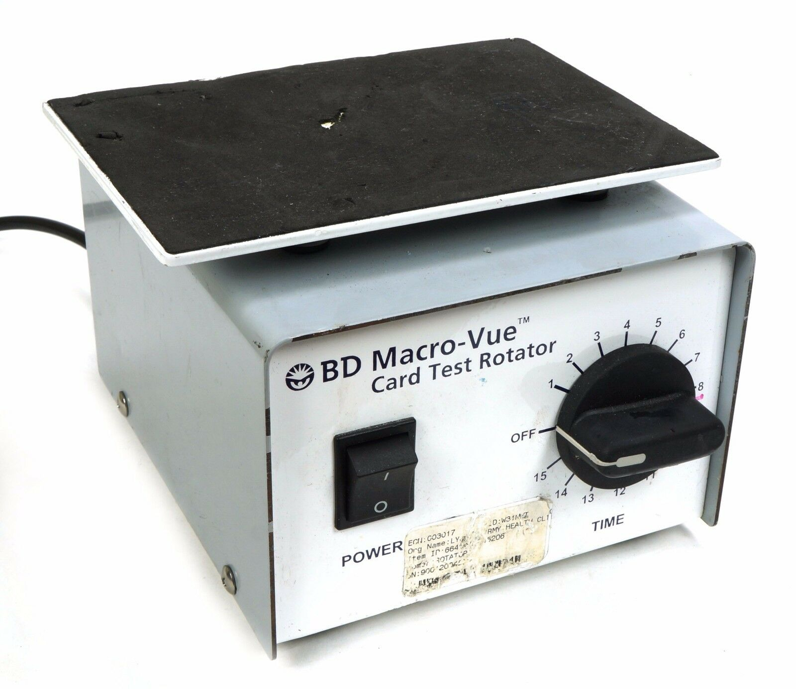 BD card test rotator, 278051
