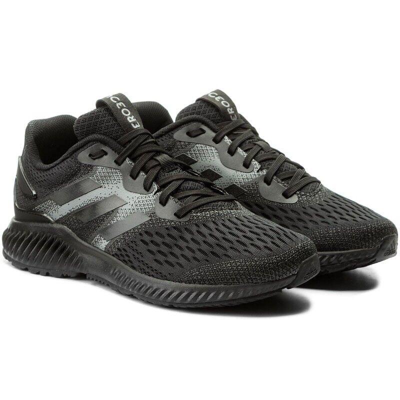 Adidas aerobounce m cq0819 herren turnschuhe schwarz - grau 2018 sneaker - sport
