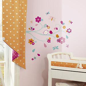 Removable-Flowers-Mural-Wall-Stickers-Decal-DIY-Room-Decor-Vinyl-Art-Tree-Birds