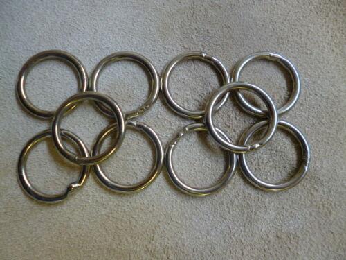 10 Stück O-Ringe Ring Stahl vernickelt Durchmesser 16-20 mm Sattler Schuster