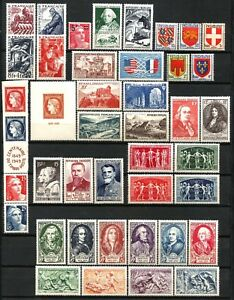 FRANCE-Annee-1949-Complete-42-Timbres-neufs-luxe-cote-177