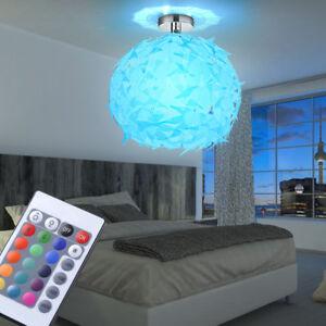 LED-RGB-6W-Design-Kugel-Blaetter-Decken-Lampe-Farbwechsler-Fernbedienung-dimmbar