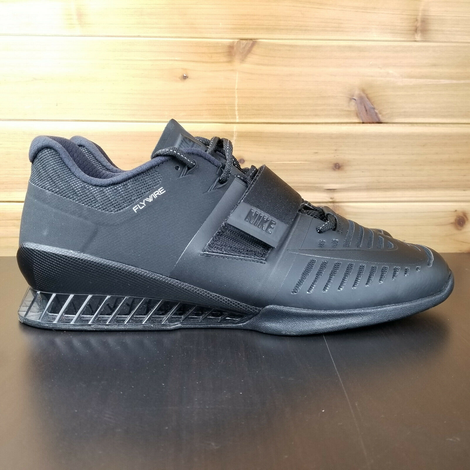Nike Romaleos 3 Weightlifting Triple Black 852933-004 Men's Size 12.5 US