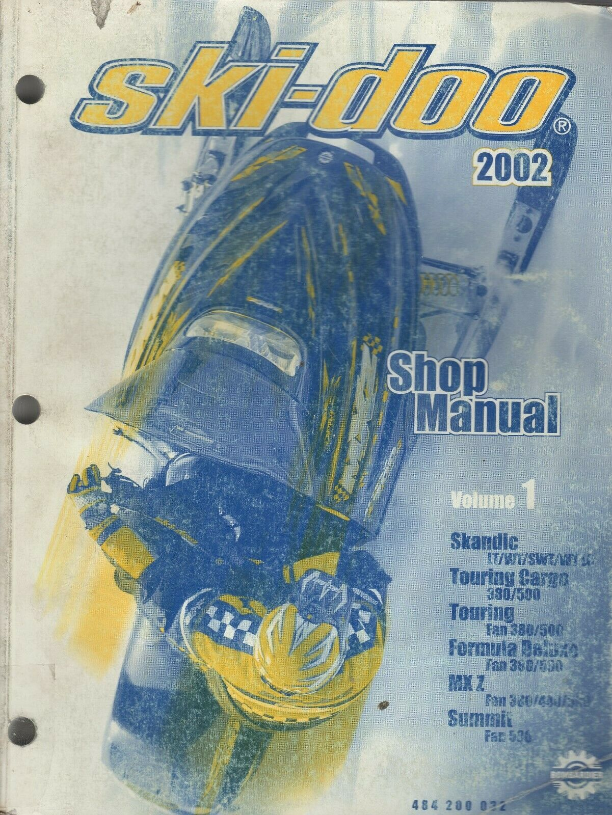2002 SKI-DOO SNOWMOBILE VOLUME 1, (SEE COVER LIST) SHOP MANUAL 484 200 032 (614)