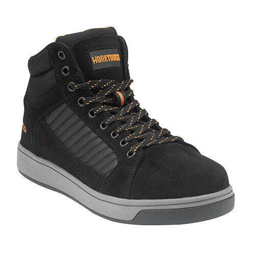 Worktough Swift Safety Hiker Work Boots Black (Sizes 5-12) Mens Shoes