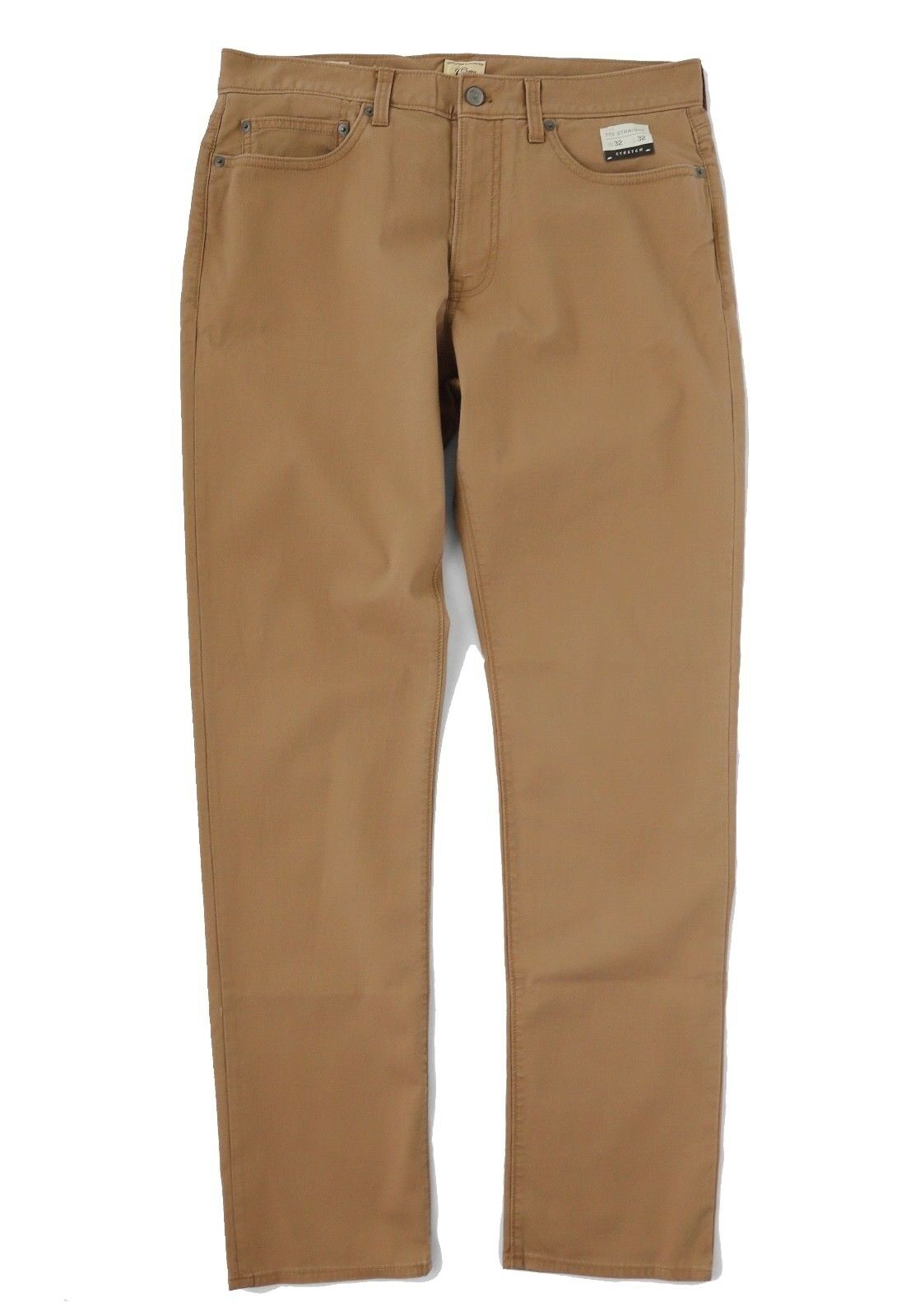J.Crew Men's 34 32 - Light-Wt Dark Khaki 770 Straight Fit Corduroy Pants H7168