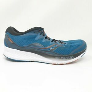 Saucony Mens Ride ISO 2 S20514-25 Blue Black Running Shoes Lace Up Size 9