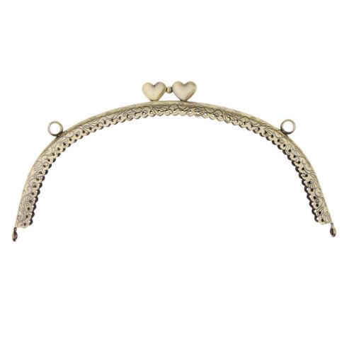Retro Metal Arch Coin Purse Frame Heart Kiss Clasp Handbag Bag Clutch Frame