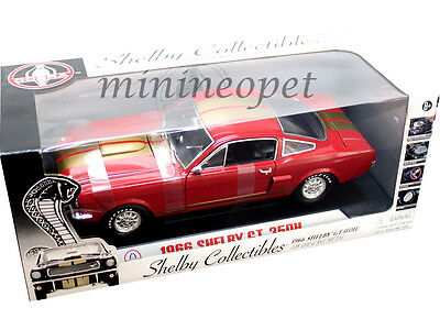 Details about  /Shelby Collectibles 1966 GT350R Metallic Red with White Stripes 1:18 NIB VHTF!