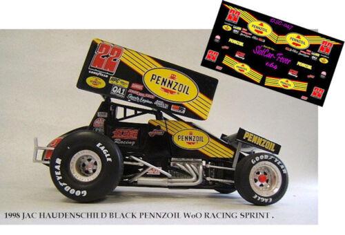 CD/_SC/_047-C  #22 Jac Haudenchild 1998 Pennzoil sprint car   1:24 Scale DECALS