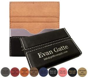 Personalized-Leatherette-Business-Card-Holder