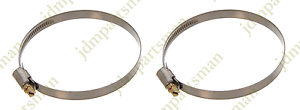Narrow Band 9mm Steel Hose Clamp 90-110mm Made in Germany Pack of 2 HC90-110/9