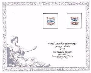 BEP Souvenir Card B156 WCS Expo 1992 #118 Columbus Historic Voyage Mint