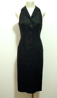 GENNY Abito Vestito Donna Lino Flax Woman Dress Sz.S - 42