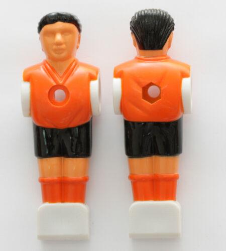 Kickerfigur Spieler Kicker Figur für 16mm Stange Tischfussballspieler orange//sw