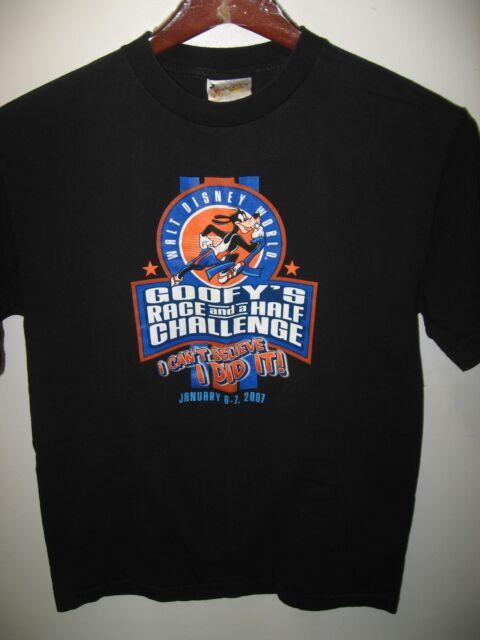 Walt Disney World Orlando Florida USA Goofy Race And A Half Run 2007 T Shirt Med