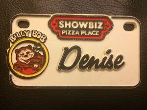 Vintage 1980/'s ShowBiz Pizza Place Billy Bob Souvenir Name Plate Badge Hank