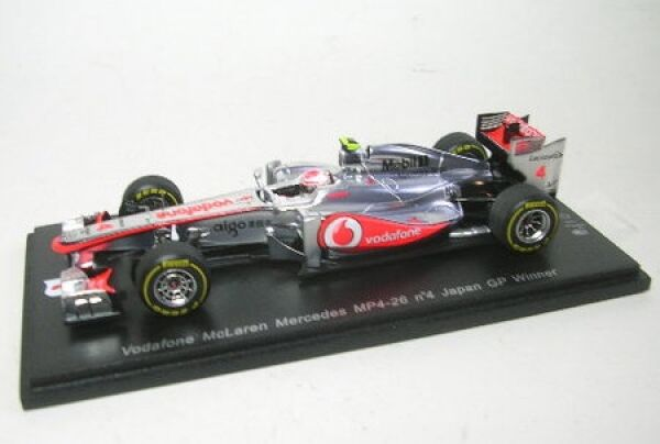 McLaren Mercedes mp4-26 n. 4 J Button WINNER GP Giappone 2011