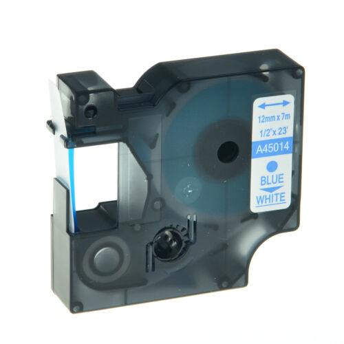 3x Schriftband Kasette für DYMO D1 45014 12mm Blau auf weiß LM 210D 220P 350D