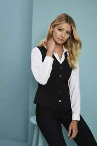 Details about Simon Jersey Essentials Women's Hospitality Waistcoat  Waitress Uniform