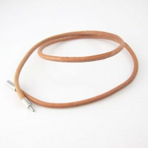 23-034-24-034-61cm-Brown-Leather-Surfer-Necklace-NON-Allergy-Silver-Pewter-Connector