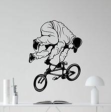 Bicycle Wall Decal Bike BMX Trick Extreme Sport Vinyl Sticker Decor Mural 16thn