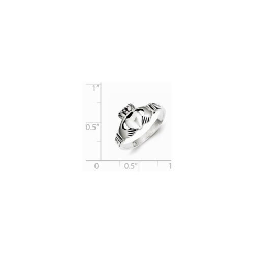 Details about  /.925 Sterling Silver Antiqued Claddagh Ring Size 6 MSRP $38