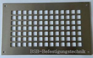 1-EDELSTAHL-A2-LUFTUNGSBLECH-205x155mm-Lueftungsgitter-Abluftgitter-Gitter