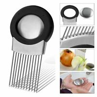 Stainless Steel Onion Holder Slicer Vegetable tools Tomato Cutter Kitchen ###