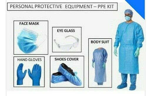 Set of 5 x Disposable PPE Kit for Doctors in OPD General Wards Clinics 70 GSM