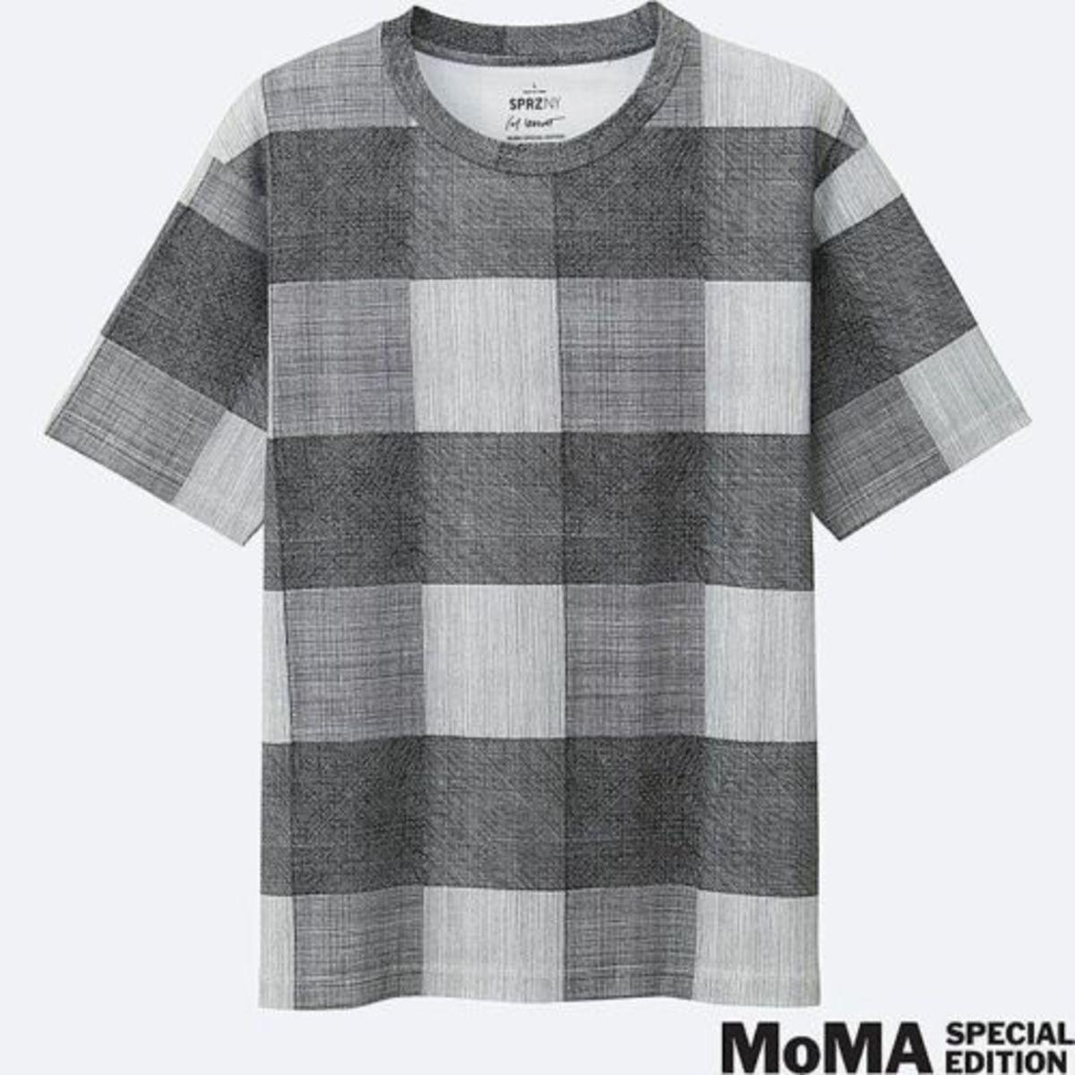 SOL LEWITT x UNIQLO 'Lines   Grids' SPRZ NY MoMA Art T-Shirt Geometric SMALL NWT