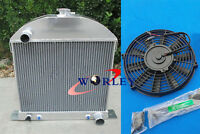 For 1929 1930 1931 Ford Model A Chevy Engine 29 30 31 Aluminum Radiator + Fan