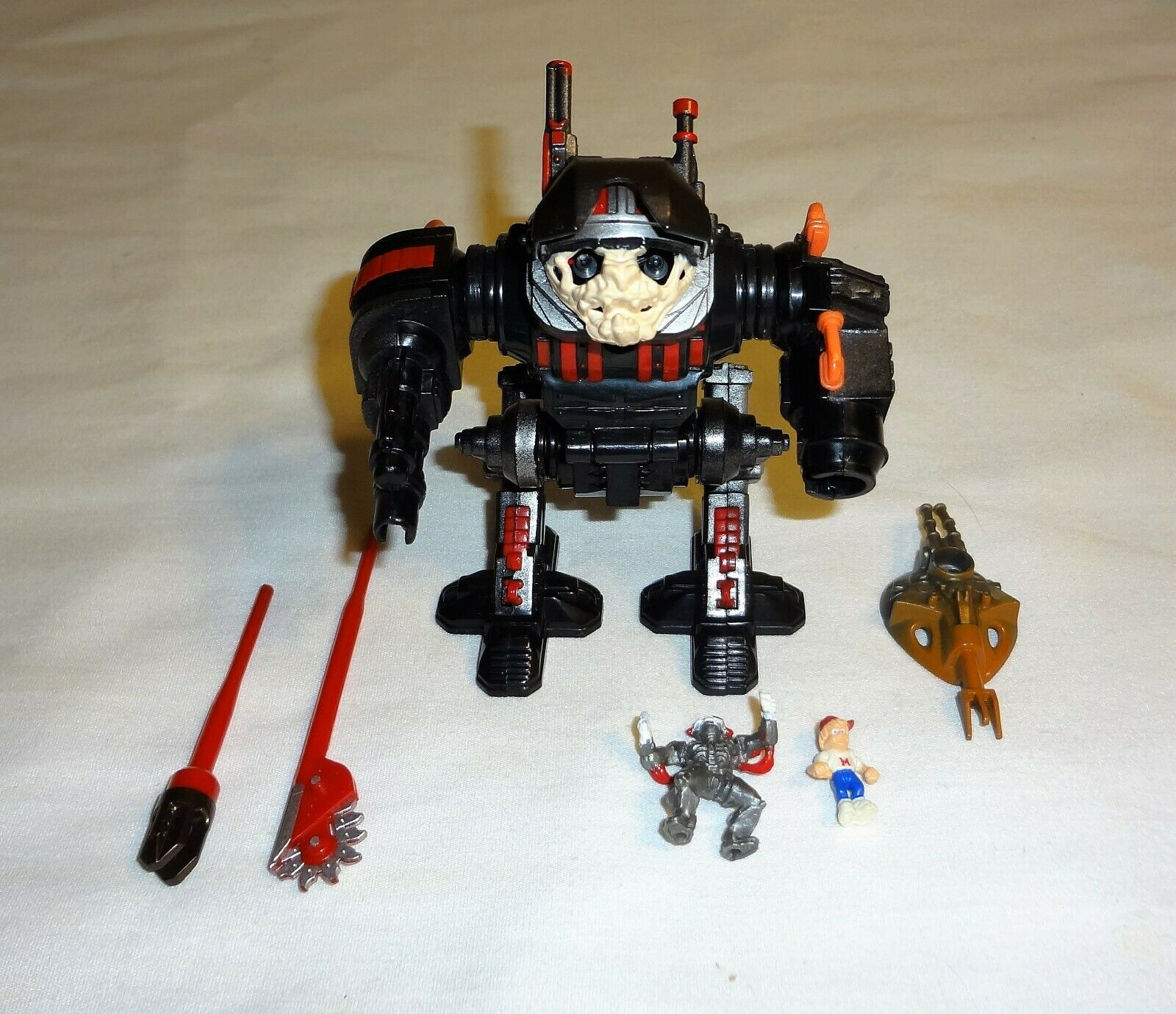 Mighty Max Battle Warriors Cybot 100% komplett Playstat blåbird Toys MYNT RARE