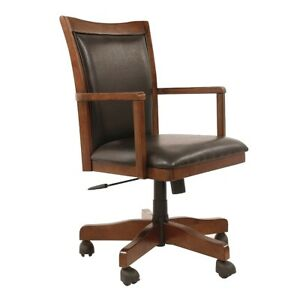 Mission-Craftsman-Oak-Leather-Executive-Office-Arm-Chair-New