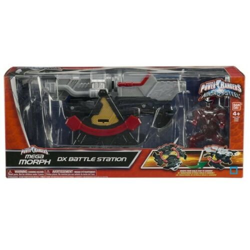 100/% NEUF + Power Rangers NINJA STEEL BANDAI STATION DE COMBAT DX BATTLE