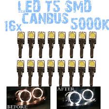 N° 16 Gloeilampen LED T5 Wit 5000K SMD 5050 Koplampen Angel Eyes DEPO FK 12v 1C2